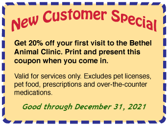 Coupon for 20% off first visit